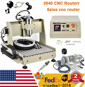 5 Axis Cnc 3040 Router Engraving Carving Machine Metal Milling Machine 800w Vfd