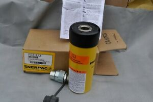 Enerpac Rch 123 Hollow Hydraulic Ram Cylinder Hollow Plunger 12 Ton New