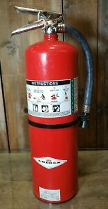 Fire Extinguisher 15 5lb Halotron Clean Agent Amerex 398 2018 2a 10bc Used