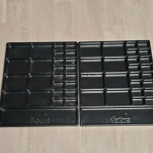 Mac Tools Shop Parts Tray Organizer Lot Of 2 Section Compartment 18x22