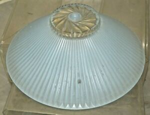 Vintage 1920s 40s Art Deco Satin Blue Glass 10 Ceiling Light Cover Shade 2