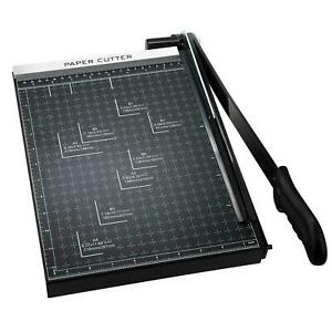 12 Sheets 15 Heavy Duty Paper Cutter A4 B5 A5 B6 B7 Guillotine Page Trimmer Usa