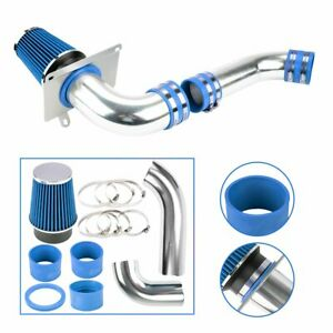 For 89 93 Ford Mustang Model 5 0l V8 Blue Cold Air Intake Introduction System