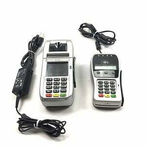 First Data Fd130 Duo And Fd 35 Pin Pad Credit debit Card Pos Terminal Working
