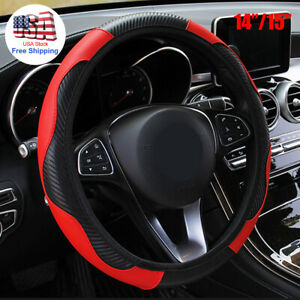 15 Universal Car Suv Steering Wheel Cover Red Microfiber Leather For Honda Jeep