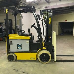 2016 Yale Erc050vgn 5000lbs Capacity Used Forklift W Quad Mast Electric Sideshi