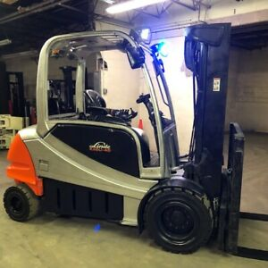 2016 Linde Rx60 45 9000lbs Used Electric Forklift W triple Mast Sideshift