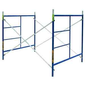 Scaffolding Tower Set 7 Ft X 5 Ft X 5 Ft 1 story 9920 Lb Load Capacity Steel