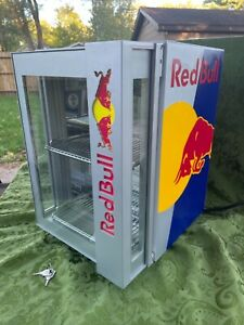 Red Bull Baby Mini Fridge Led Lights Only Used 1 Week Super Clean Workinrare