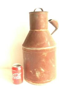Antique Vintage Galvanized Milk Churn Pail French Style Jug 2 64 Gallons Rustic