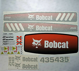 Bobcat 435 Decals Stickers Aftermarket Repro Decal Kit Uv Laminated