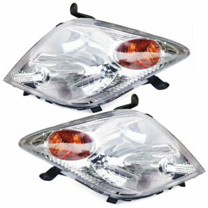 For 04 05 Scion Xa Front Headlights Lamps Left Right 2004 2005 Front Headlamps