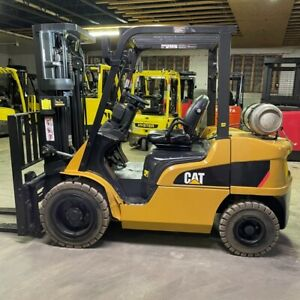 2014 Cat 2p6000 6000lbs Used Forklift W triple Mast Lp Gas Sideshift 16749 Hours