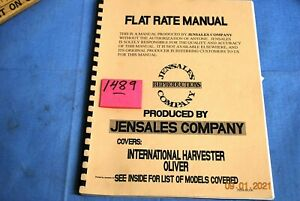 Oliver And International Harvester Flat Rate Manual Covers See Listing