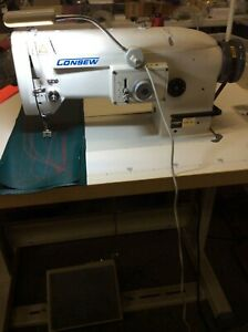 Consew 199r 1a 1 Industrial Straight Stitch And Zigzag Sewing Machine Head Only