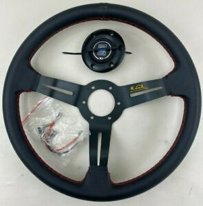 New Italy Nardi Rally Deep Corn 350mm Steering Wheel Black Perforated Leather