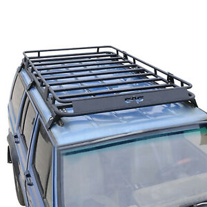 Black Roof Rack Cargo Carrier Full Length Fits For 1984 2001 Jeep Xj Cherokee