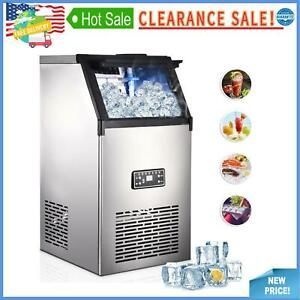 60 70 80kg Commercial Ice Maker Stainless Steel Ice Cube Machine Undercounter