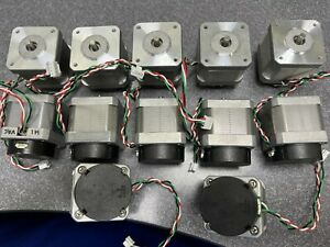 Stepper Motor Lot W Encoder Attached And Coupler Lot Of 12
