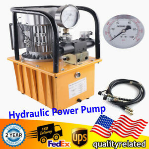 Electric Driven Hydraulic Pump 750w Double Acting Solenoid Valve 7l 1400r min