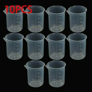 Small 100ml Measuring Cup Plastic Jug Beaker For Kitchen Laboratory Durable Set