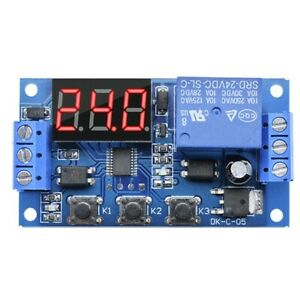 With Case 24v Led Display Automation Digital Delay Timer Control Switch Relay X9