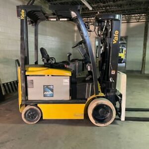 2015 Yale Erc050vgn 5000lbs Used Forklift W Quad Mast Electric Sideshift