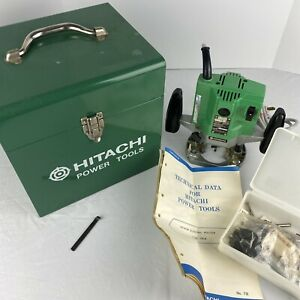 Hitachi Power Tools Electric Router Type Tr 8 W Metal Case Tech Data Bits Works