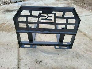 Es 84 Smooth Bucket And 48 Pallet Forks Combo Skid Steer Loader Free Shipping