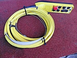 6 Button Wired Overhead Crane Control Pendent R m Materials Handling