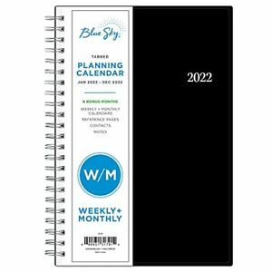 Blue Sky 2022 Weekly Monthly Planner 5 X 8 Flexible Cover Wirebound New