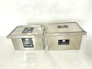 Lot Of 2 Electron Microscope Metal Film Carriers cases One Has Film