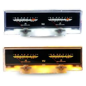 Double Pointer Vu Meter Stereo Audio Amplifier Board Db Sound Level Indicator