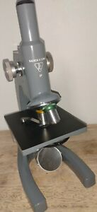Vintage Bausch Lomb St Student Microscope 10x 43x Working