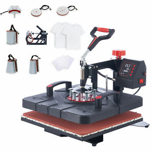 15 x15 Swing Away Heat Press 8in1 Heat Press Machine For Home Commercial Use