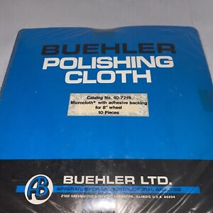 Buehler Polishing Cloth Cat 40 7218 Microcloth W Adhesive Backing For 8 10ea