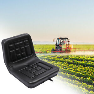 Adjustable Tractor Seat Dumper Forklift Mower Chair Seat Slidable Drain Hole