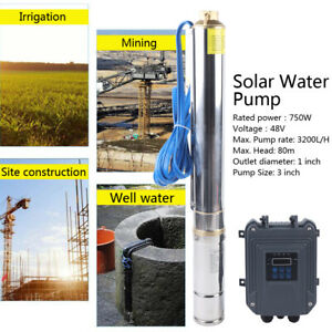 48v 3 Dc Deep Bore Well Solar Water Pump Submersible Mppt Controller Kit 750w