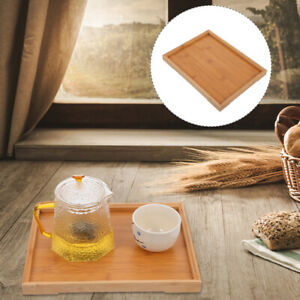 1pc Bamboo Serving Tray Japanese Style Tea Tray Party Cake Fruit Snack Holding