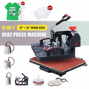 12 x15 Swing Away Heat Press 8in1 Heat Press Machine For Home Commercial Use