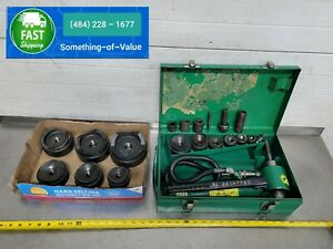 Greenlee 7306 1 2 To 4 Hydraulic Knockout Punch Punches W 2 1 4 2 3 4