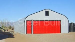 Durospan Steel 30 x50 x15 Metal Building Diy Man Cave She Shed Open Ends Direct