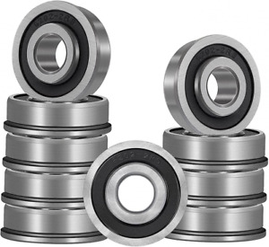 10 Pack Flanged Ball Bearings 5 8 X 1 3 8 X 1 2 Pre Lubricated Lawn Mower
