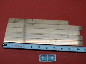 5 Pieces 1 8 X 3 4 C110 Copper Bar 8 9 To 10 9 Long Solid Bus Bar Stock H02
