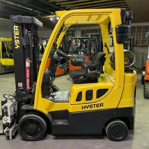 2015 Hyster S50ft 5000lbs Capacity Used Forklift W Triple Mast Sideshifting For