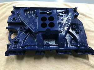 65 68 Ford T Bird Mustang 390 Oem 4v Cast Iron Intake Manifold 428 Gt S Code
