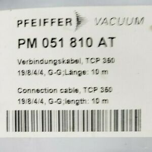 Pfeiffer Vacuum Turbo Pump Cable Pm 051 810 At Tcp 350 10 Meters Cut Used