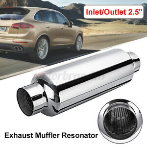 14 Long Stainless Steel Universal Exhaust Silencer Muffler 2 5 Inlet Outlet