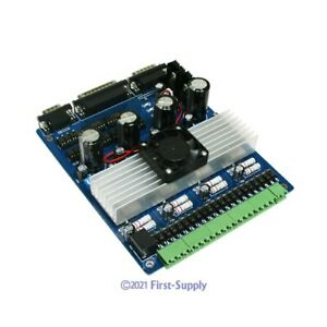 4 Axis Cnc Kit Stepper Motor Driver Board Controller Demo Mach3 Db25 Cables