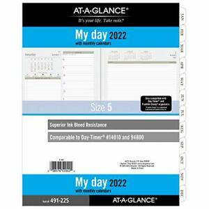 2022 Daily Planner Refill By At a glance 94800 Day timer 8 1 2 X 11 Size 5